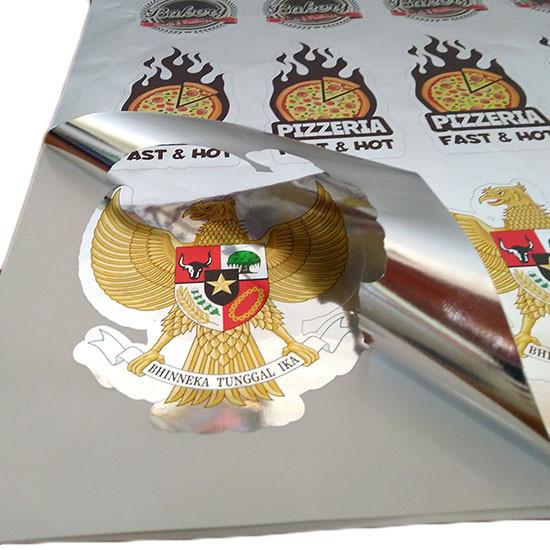Cetak Stiker Metalic Silver