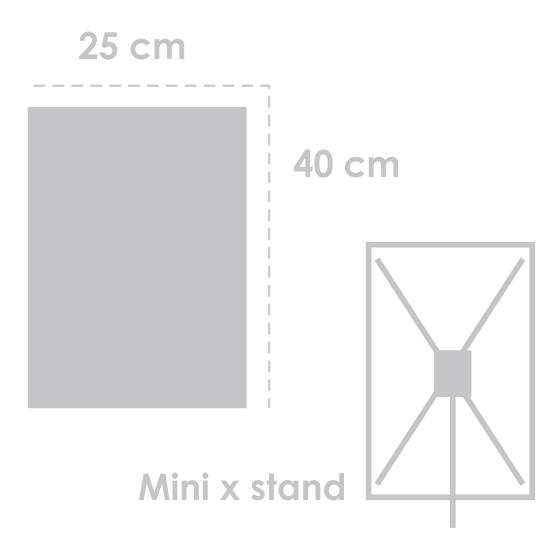 Mini X Banner 25 cm x 40 cm HP Latex 330