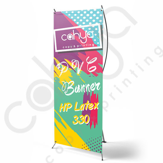 X Banner PVC Banner 180 cm x 80 cm HP Latex 330