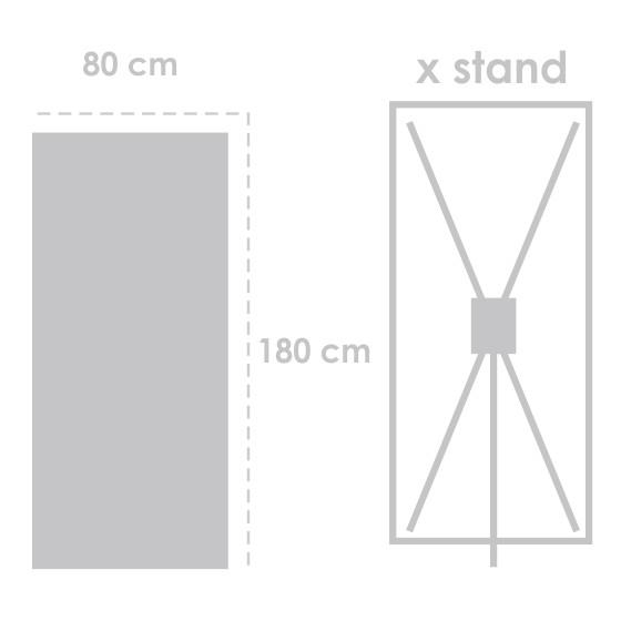 X Banner Flexi Tebal 180 cm x 80 cm