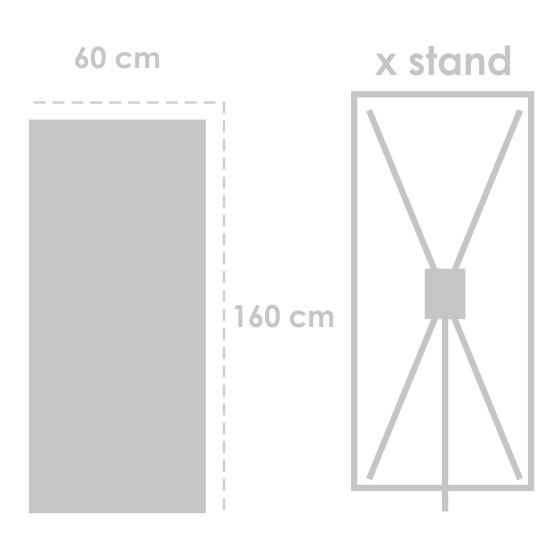 X Banner Flexi Tebal 160 cm x 60 cm