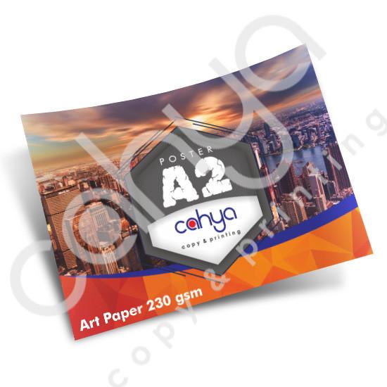 Cetak Poster A2 Art Paper 230 gsm