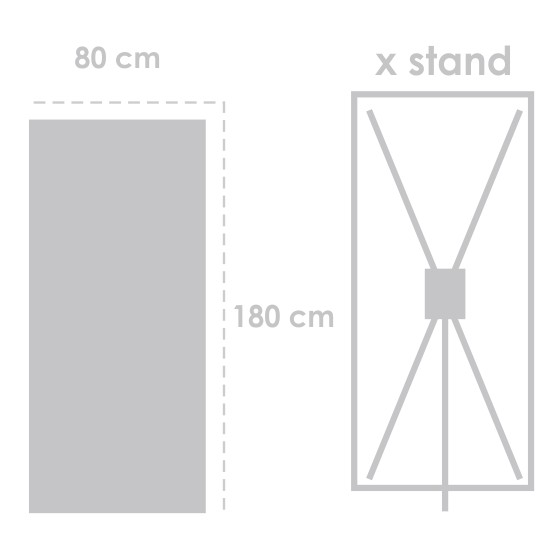 X Banner Albatros 180 cm x 80 cm HP Latex 330