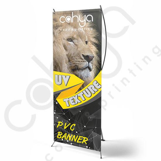 X Banner PVC Banner 160 cm x 60 cm Texture